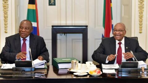 Cyril Ramaphosa with former President Jacob Zuma