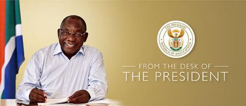 the desk of the president