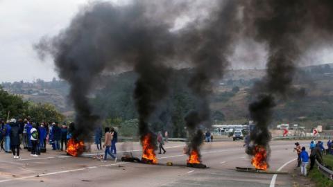 Violent protests KZN Gauteng