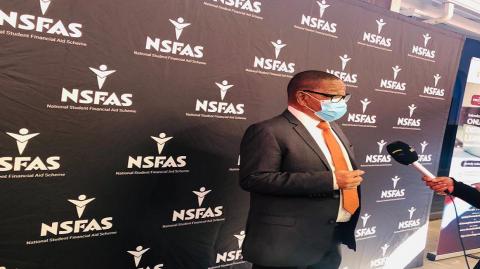 Higher Education Minister Blade Nzimande at a TVET college
