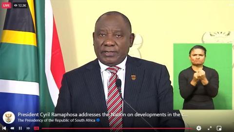 President Cyril Ramaphosa Speech Highlights Covid Lockdown