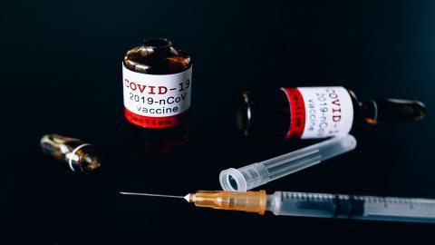 Covid-19 vaccine with needles