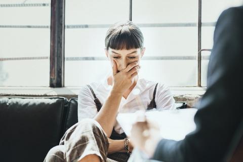 employee looking stressed