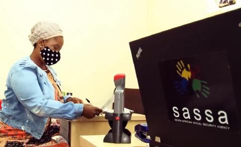 SASSA applicant visiting SASSA office