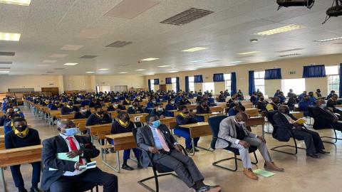 learners sitting in school