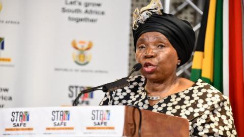 CoGTA Minister Dr Nkosazana Dlamini Zuma