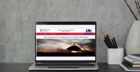 UIF Ters online portal laptop