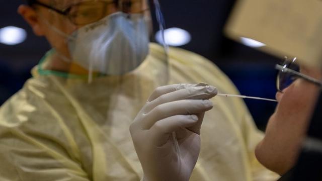 person undergoing Covid-19 testing